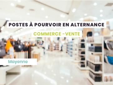 Postes en alternance Commerce - Mayenne (53)