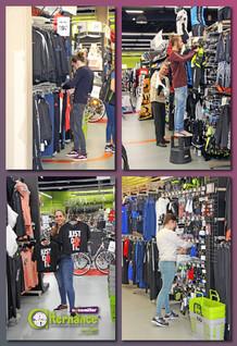 Journée au magasin Go Sport pour nos stagiaires VCM