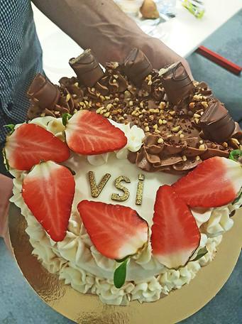 Gâteau d'un bénéficiaire VSI - Rennes