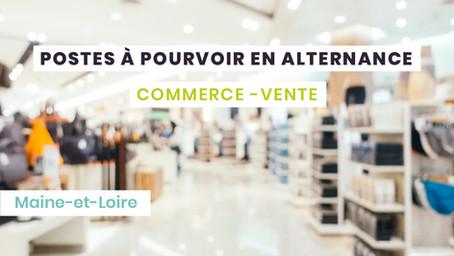 Postes en alternance Commerce - Maine-et-Loire (49)