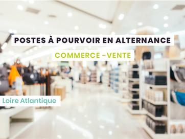 Postes en alternance Commerce - Loire Atlantique (44)