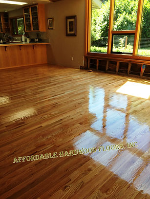 Refinish hardwood floor