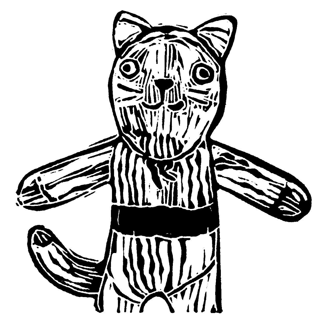 Pants Cat BW