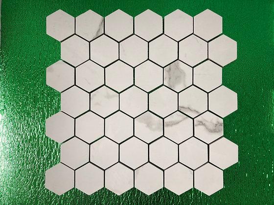 Carrara tile 2x2 Hexagon Polished 12x12