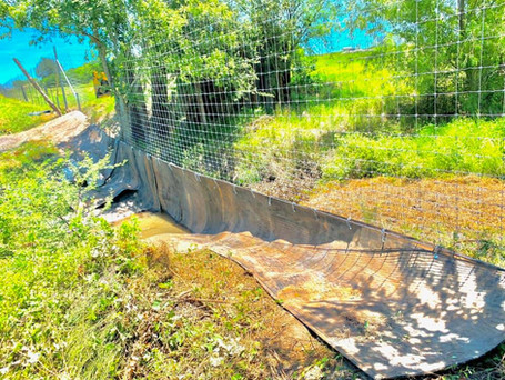High Game Fence with Water Gap