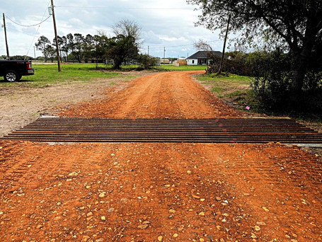 Custom Cattle Guard and Driveway