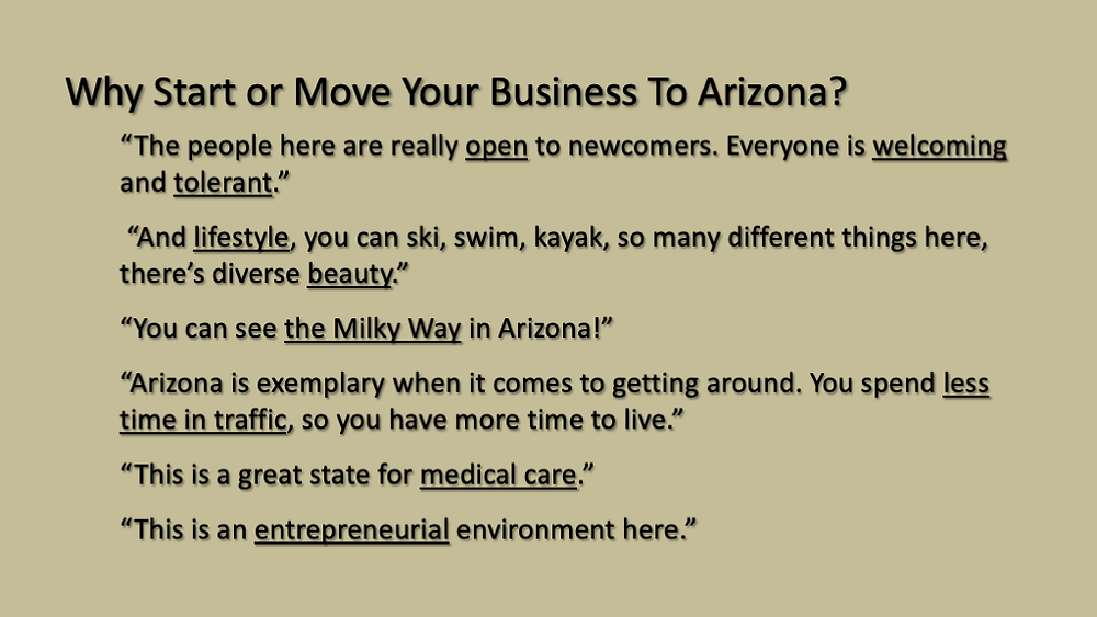 Why start a business from Arizona brand research