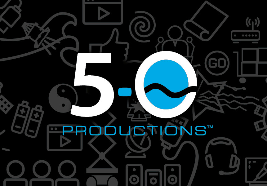 The new 5-0 Productions logo