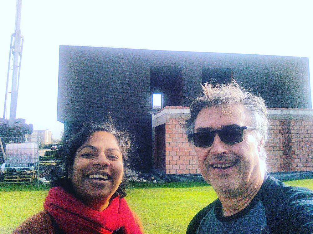 Architecte Gita Callaerts en woonjournalist Patrick Retour