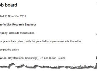 Launch of new FluidicMEMS job board!