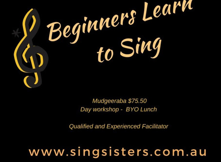 Learn to sing if you are a beginner
