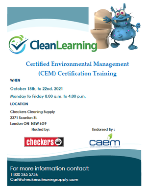 Clean Learning Certified Environmental Management (CEM) Certification Training