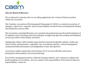 Join Our Board of Directors at CAEM !