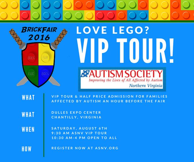 BrickFair VIP Tour for LEGO lovers on the spectrum!