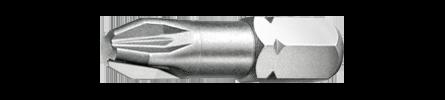 "Pozidriv Bit shot 1/4"" Torsonic stainless steel"
