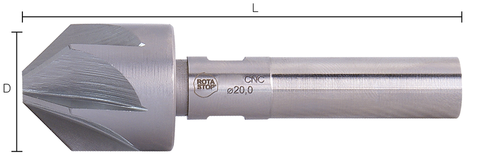 Rotastop Countersink DIN 335a HSS M2 Fully Ground