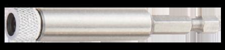 "Bit holder 1/4"" with Quicklock, magnetic, with screw cap"