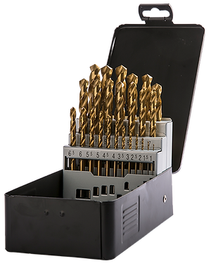 HSS Fully Ground Tin Coated Metal Drill Set