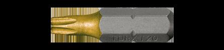 """Torx Bit kort 1/4"""" TIN"""