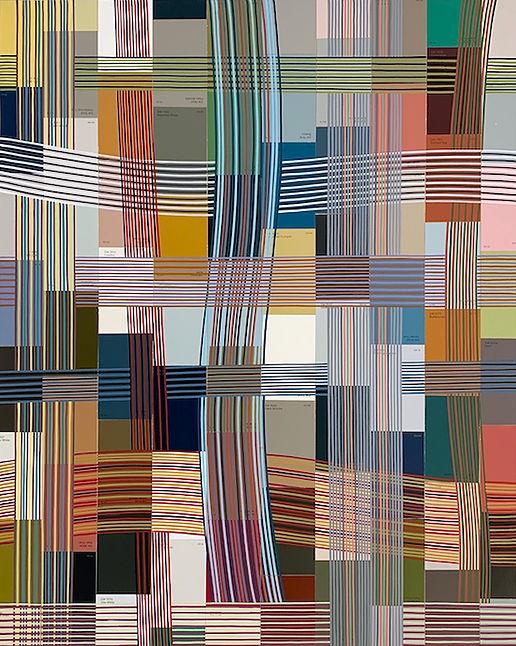 Pretzel Logic, 2020, acrylic and collage