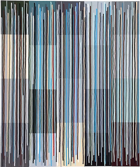Quadrivium 7, 2017, acrylic, collage on