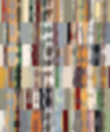 Broadway, 2017, acrylic, collage on wood