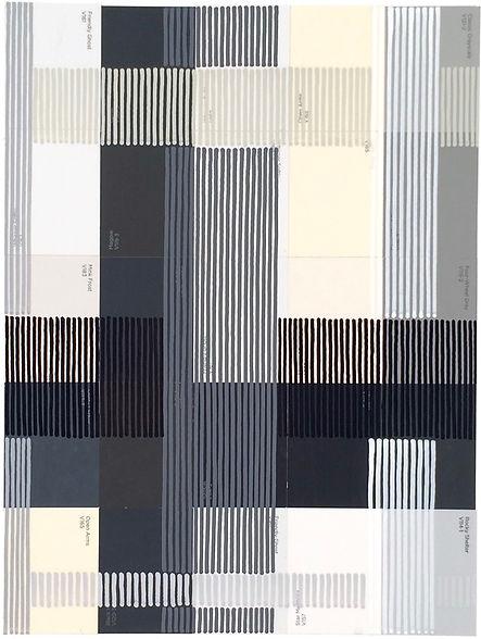 Glyphix 1, 2018, acrylic and collage on