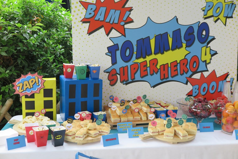 Compleanno a tema Super Eroi, feste