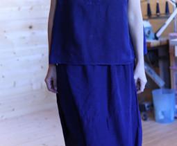 「藍とインディゴの着心地の良い服」