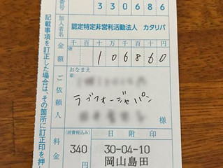 Love for Japan Spring 2018 寄付金のご報告