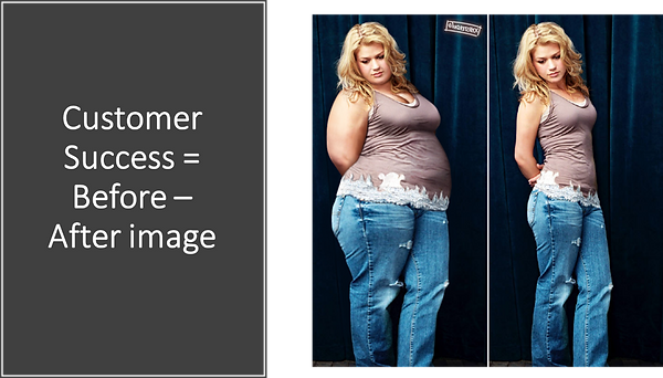 Customer Success - Before and after