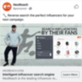 Neoreach Faceboo ad example