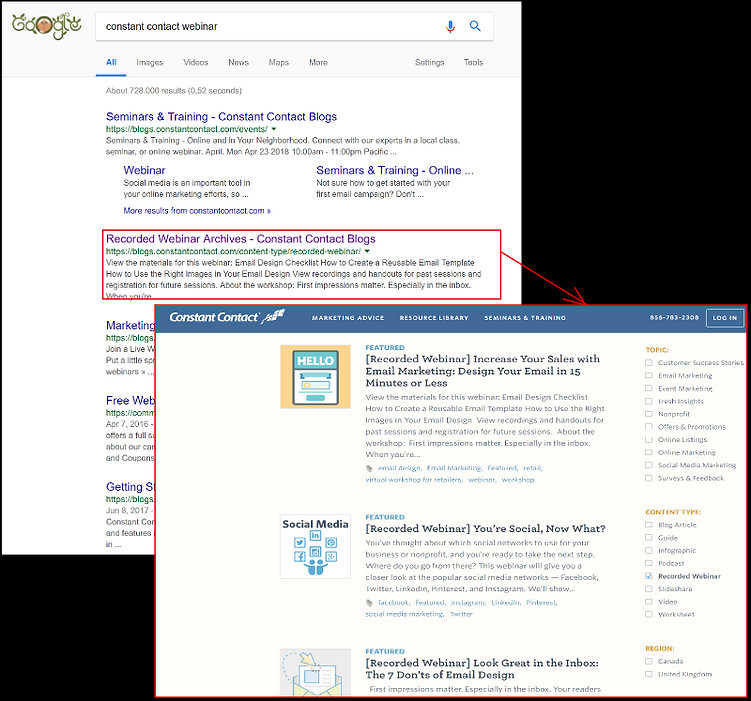 Google competitor's webinar