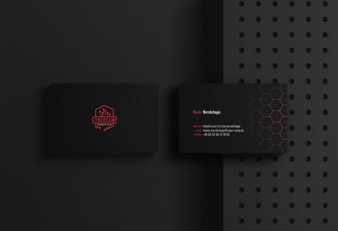 Visitenkarten Design für CyberCamp