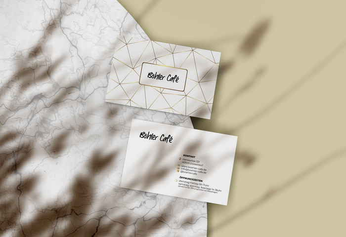 Böhler Cafe_Visitenkarten Design_Printme