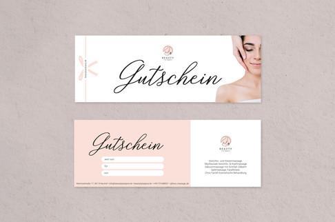 Gutschein Design für Beauty by Tatjana