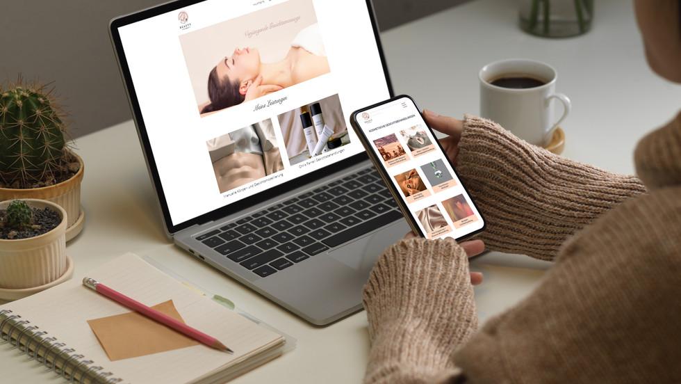 Webdesign für Beauty by Tatjana