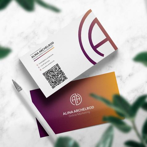 Visitenkarten Design für Alina Archelrod