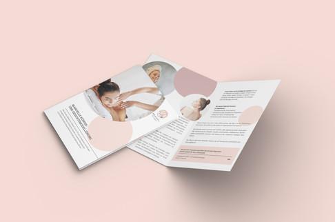 Einbruchfalz Flyer Design für Beauty by Tatjana