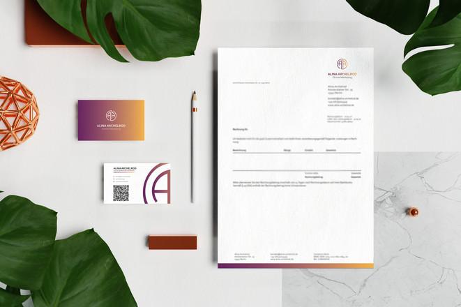 Geschäftspapiere für Alina Archelrod