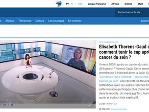 Interview du 25 février 2021 sur  TV5 monde!