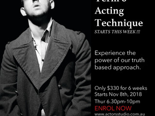 Acting classes starting this week in Sydney!!