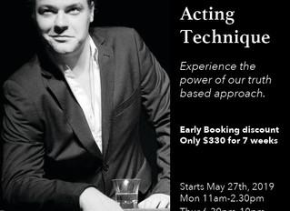 Term 3 Acting Technique Classes - The Actors Studio Australia