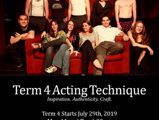 Term 4 Acting Courses start July 29th