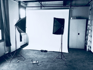 White paper backdrop now available with Photography studio hire