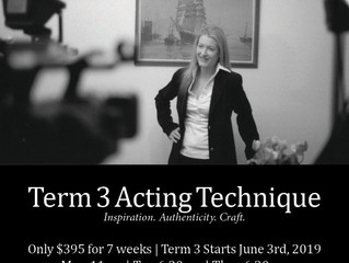 Tuesday Night Acting Classes Now Available in Sydney