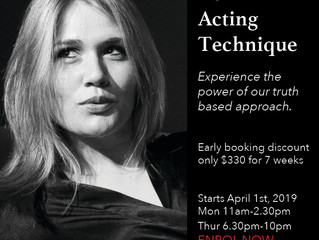 Term 2 Acting Technique Classes - Now enrolling - Early booking discount