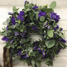 Eucalyptus & Statice wreath