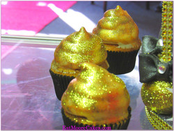 Gold painted cupcake