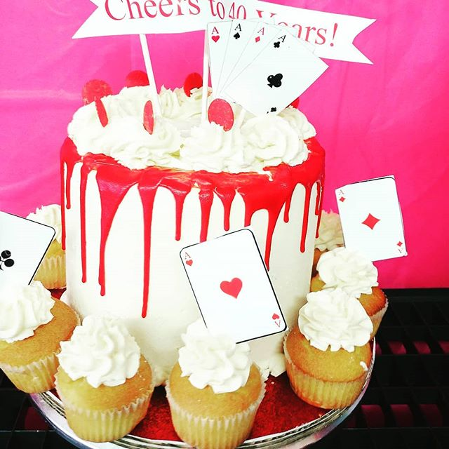 Simple 3Red Velvet cream cheese birthday